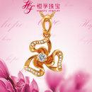 恒孚珠宝爱的幸福系列钻石吊坠