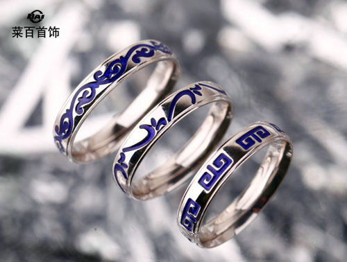 菜百首饰铂彩青花瓷系列