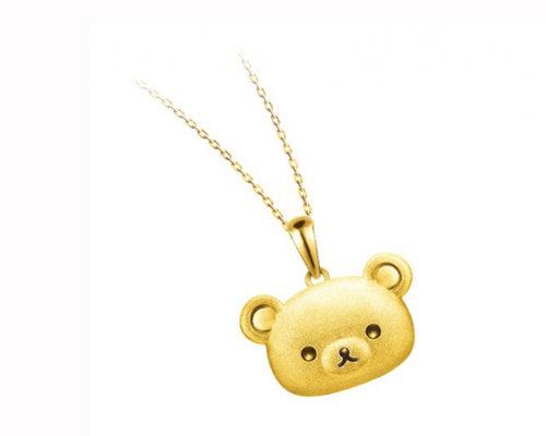 六福珠宝轻松小熊系列 欢度圣诞