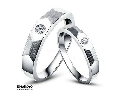 """玛丽莱珠宝""""共赴幸福 钻石对戒"""""""