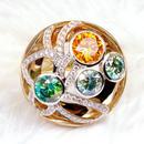 福泰珠宝莫桑石14k金戒指(多图)