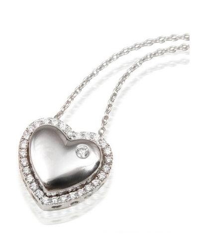 福泰珠宝一款多戴心形钻石吊坠(多图)