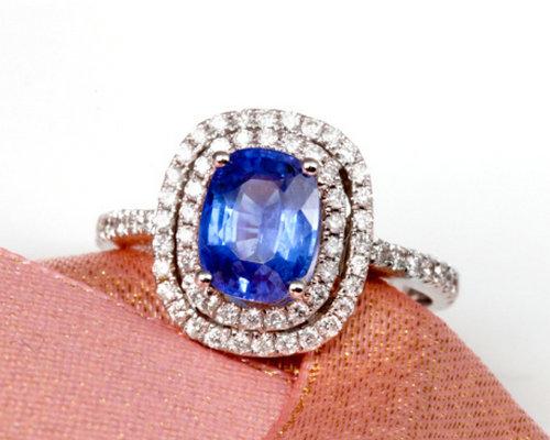 福泰珠宝18K金高贵蓝宝石戒指(多图)