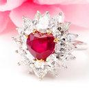 福泰珠宝奢华鸽血红宝石戒指(图)