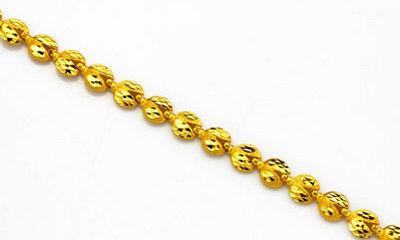 金大福珠宝黄金圆形手链(图)