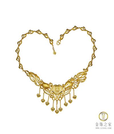 凯福珠宝唯有爱玫瑰之恋套链 龙凤衔福套链(图)