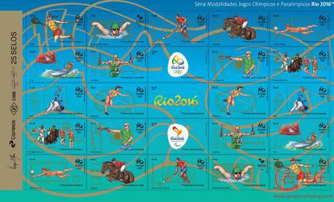 里约2016年奥运会金银邮票种类,里约2016年奥运会金银邮票收藏价值